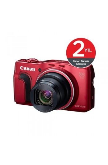 Canon PowerShot SX710 20.3 MP 30x Optik Zoom Dijital Fotoğraf Makinesi - Kırmızı