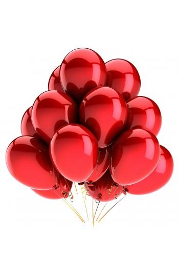 Metalik Kırmızı Balon (5 Adet)