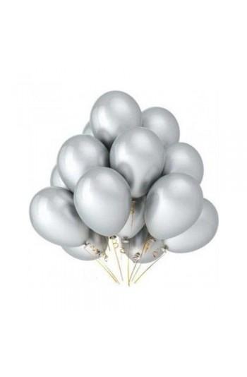 Gümüş Metalik Balon 8'Li