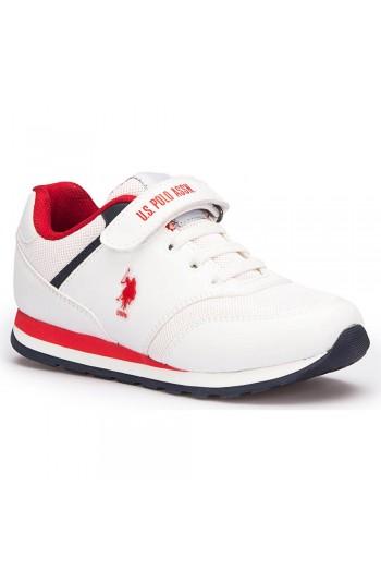 U.S. Polo Assn. Micro Beyaz Unisex Çocuk Sneaker Ayakkabı
