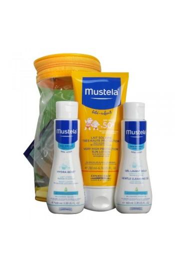 Mustela Spf 50 Faktör 200 ml Güneş Kremi Set + 100 ml Bebek Losyonu ve 100 ml Hassas Temizleme Jeli