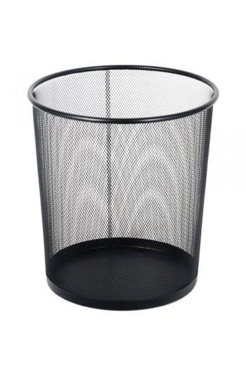 Metal Perfore Çöp Kovası Siyah