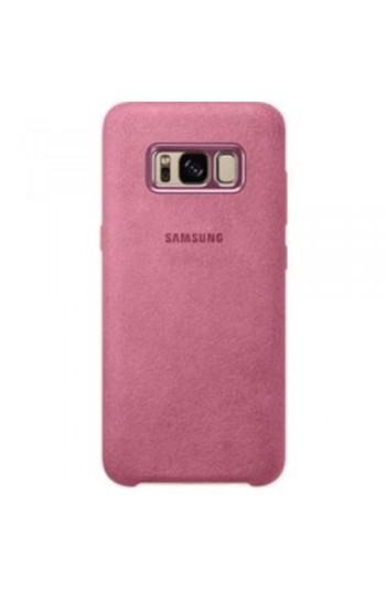 Samsung Galaxy S8 Alcantara Kılıf Pembe