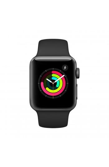 Apple Watch Seri 3 42mm Uzay Grisi Alüminyum Kasa ve Siyah Spor Kordon