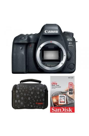 Canon EOS 6D Mark II Body + Hafıza Kartı + Çanta