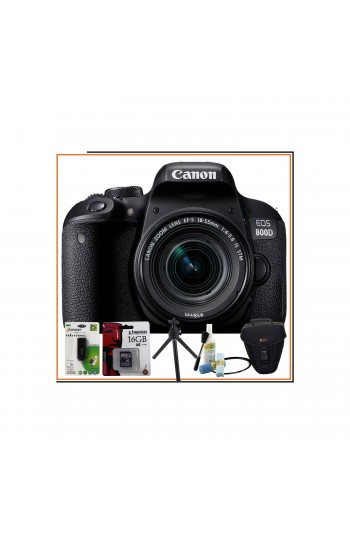 Canon EOS 800D Body 18-55mm IS STM Lens Mega Hediye Kit