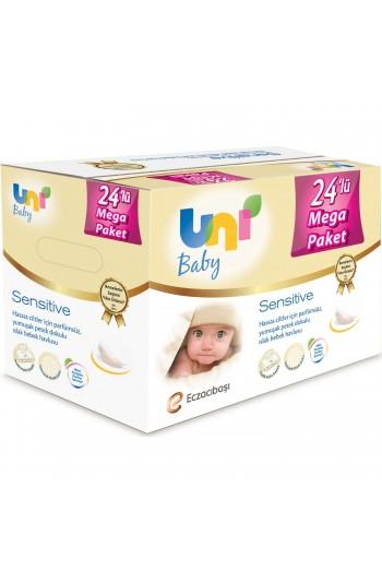 Uni Baby Sensitive Islak Havlu 24'lü Ekonomik Fırsat Paketi
