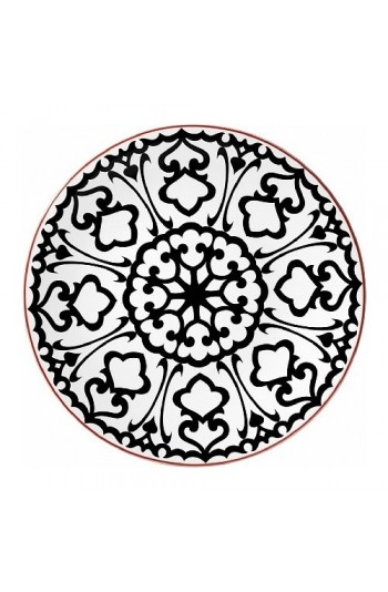 Kütahya Porselen Zeugma 24 Parça 6 Kişilik Yemek Takımı - Siyah