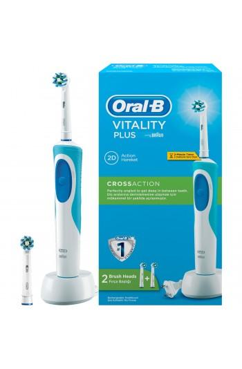 Oral-B Vitality Şarj Edilebilir Diş Fırçası Cross Action + 1 Yedek Başlık