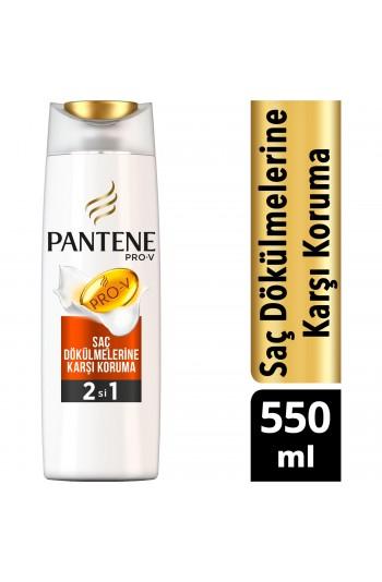 Pantene 2'si 1 Arada Şampuan ve Saç Bakım Kremi Saç Dökülmelerine Karşı Etkili 550 ml